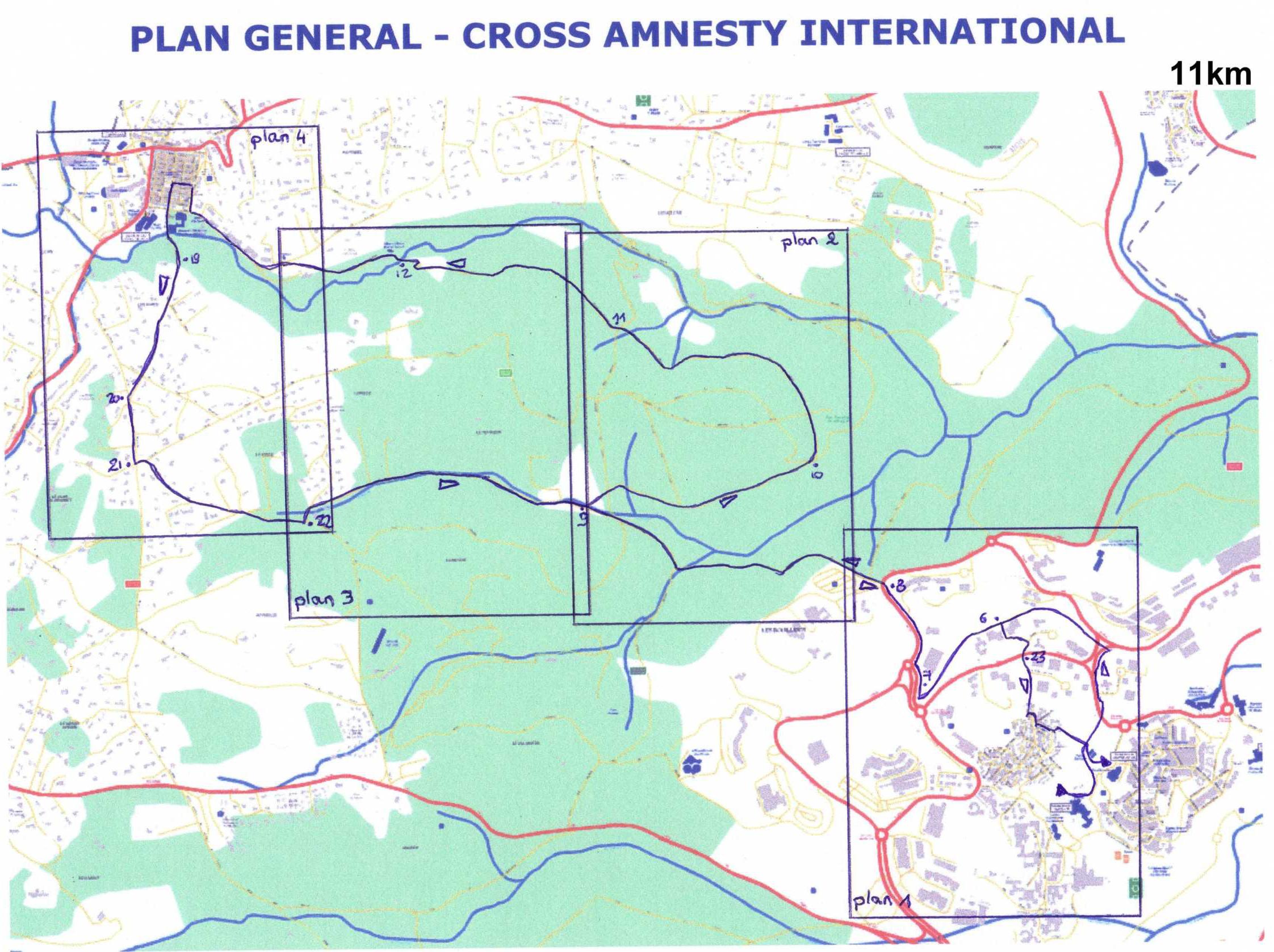 Plan du 11km