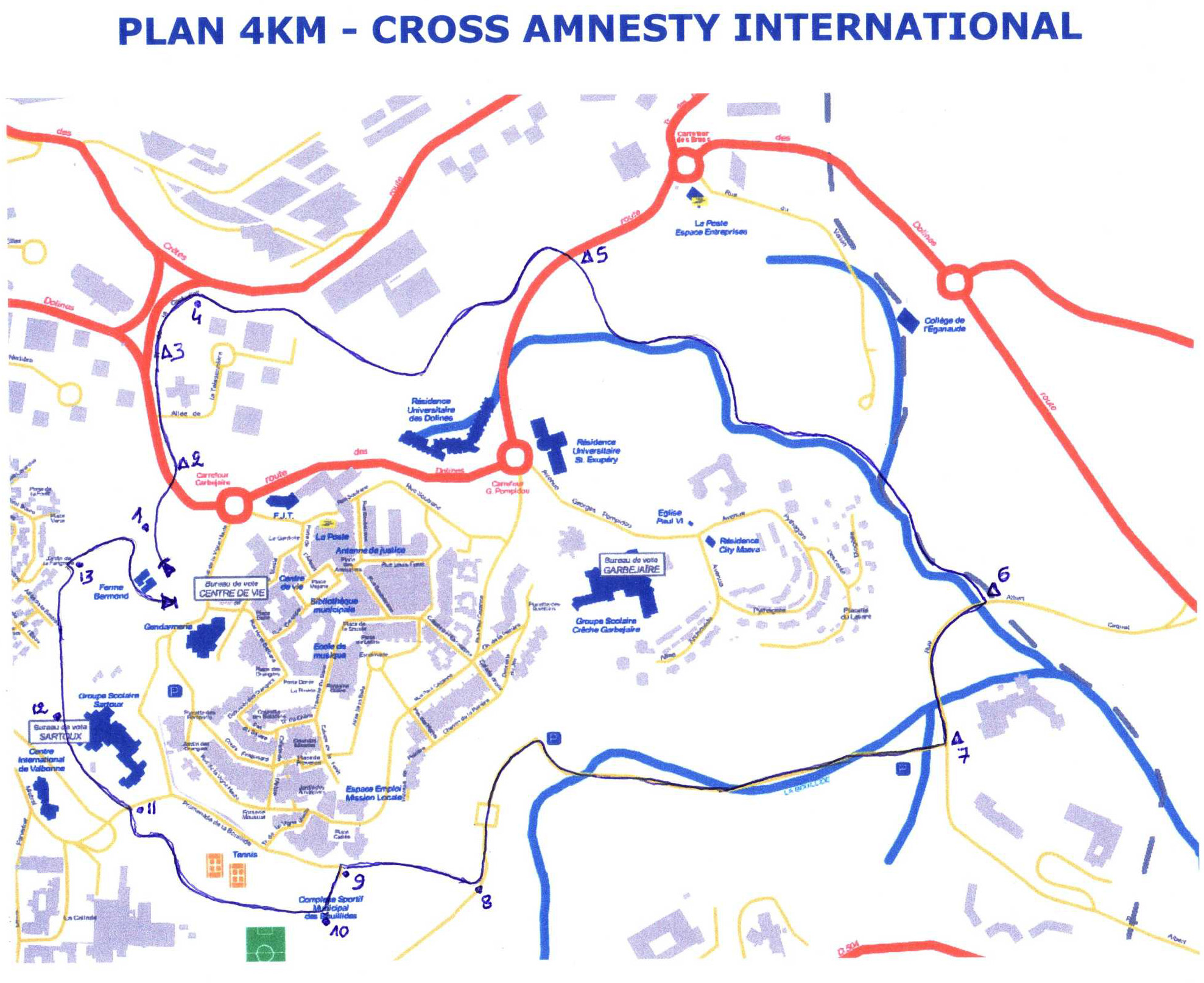 Plan du 4km