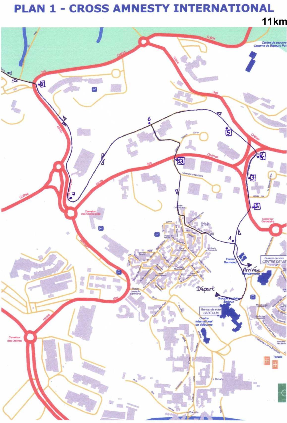 Zoom partie 1 du 11km