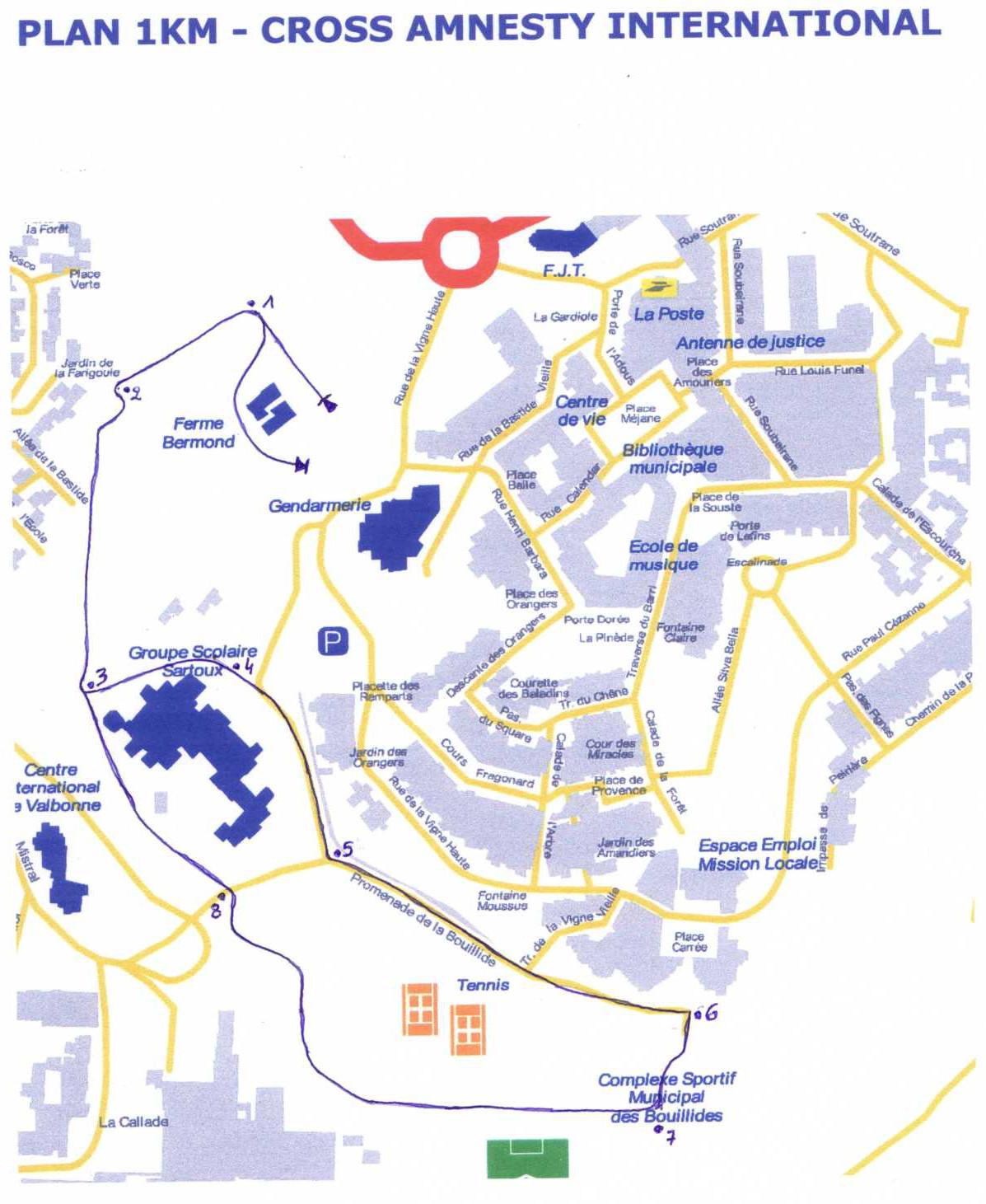Plan du 1km